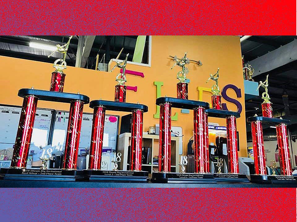 Trophies - Dream Big Invitational | Flips Gymnastics | Frederick MD